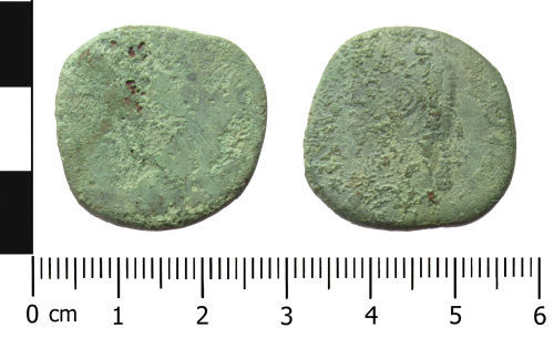 WAW-170375: Roman coin: (Obverse and reverse).
