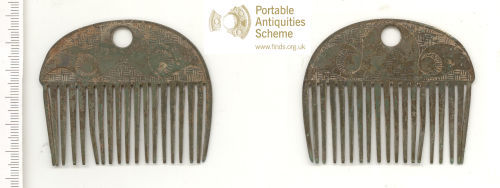 WAW-250340: Iron Age comb (plan and reverse).