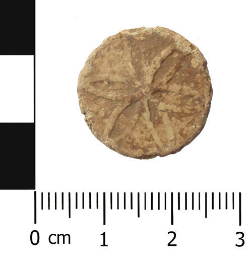 A resized image of Post Medieval lead token.