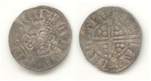 WAW-2E7AA7: Obverse and reverse of a Henry III penny.