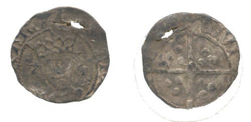 WAW-37B3E8: Obverse and reverse of an Edward IV penny.
