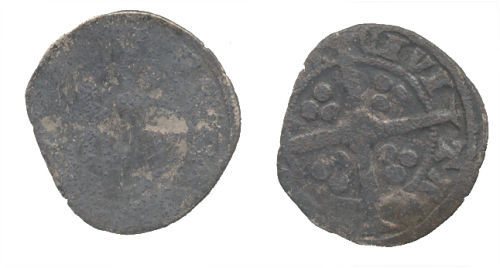 WAW-3C4001: Obverse and reverse of an Medieval Edwardian penny.