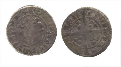WAW-3C53E2: Obverse and reverse of an Edward I penny.