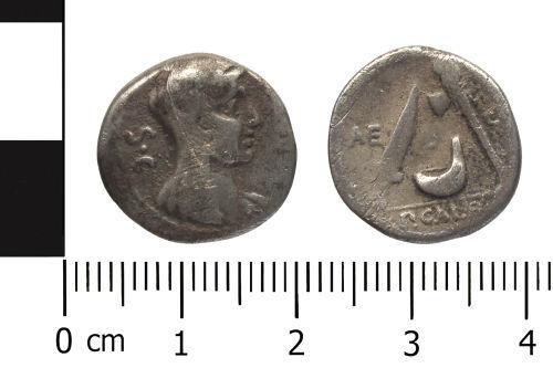 WAW-448552: Roman Republican silver denarius of P Sulpicius Galba.
