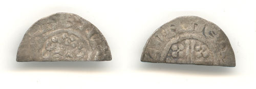 WAW-46CF16: Obverse and reverse of an early Medieval short cross penny.