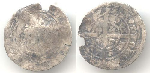 WAW-5F5827: Obverse and reverse of an Edward III groat.