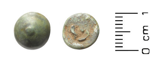 WAW-5F8F71: Post Medieval button