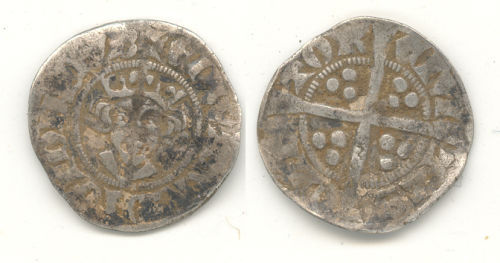 WAW-60BB15: WAW-60BB15 Obverse and reverse of an Edward I or II penny.