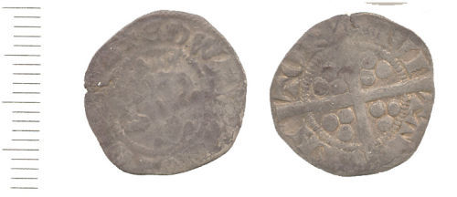 WAW-88ED22: Obverse and reverse of either an Edward I or II penny.