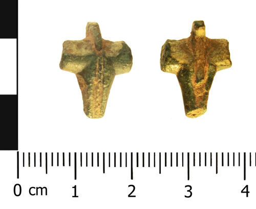 A resized image of Roman brooch: T-shaped (plan and reverse).