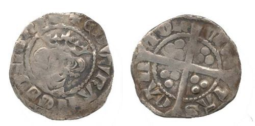 WAW-9B2154: WAW-9B2154 Obverse and reverse of a Edward I penny.