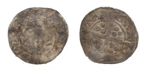 WAW-9B5971: WAW-9B5971 Obverse and reverse of a Medieval penny.