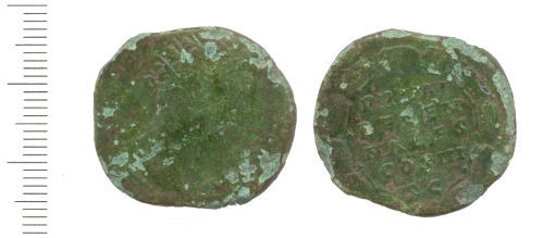 WAW-9E4272: Obverse and reverse of a Roman coin of Marcus Aurelius.