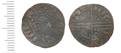 WAW-9ECD66: Obverse and reverse of Medeival Henry III penny