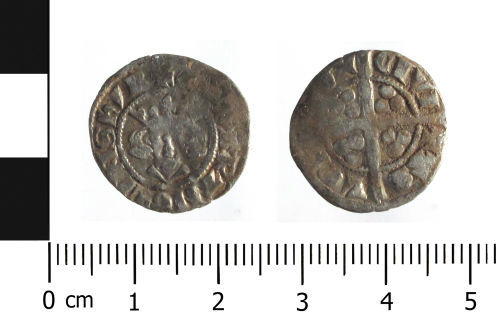 WAW-A34735: Medieval coin: penny of Edward I (Obverse and reverse).