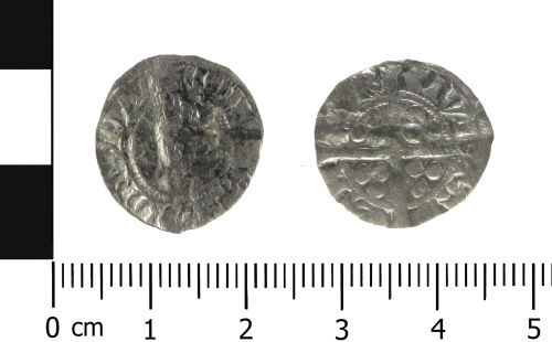 WAW-A3AD23: Medieval coin: penny of Edward I (Obverse and reverse).