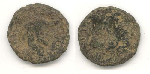 WAW-A4E004: WAW-A4E004 Obverse and reverse of a coin of Alletcus.