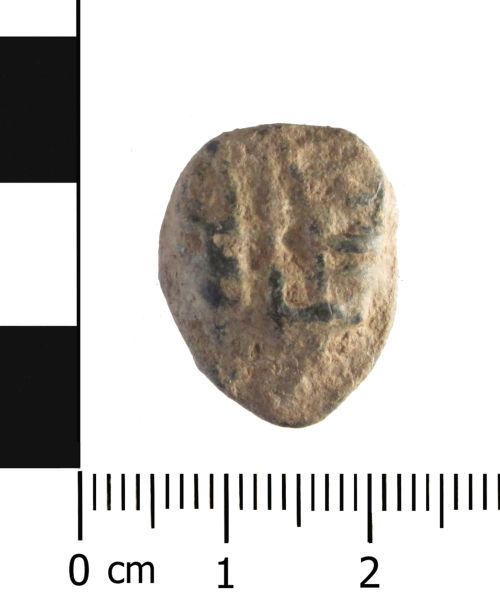 A resized image of Post Medieval lead token (plan).
