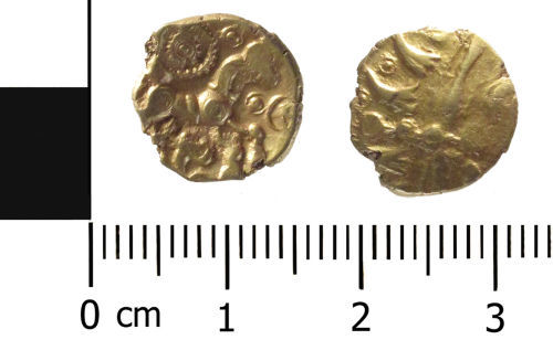 WAW-C74642: Iron Age Coin: (Obverse and reverse).
