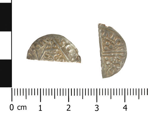 WAW-CEF0C0: Medieval coin: Irish penny of Henry III (Obverse and reverse).