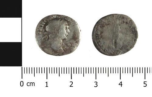 WAW-DAECC8: Roman coin: denarius of Trajan (Obverse and reverse).