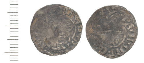 WAW-DCB752: Medieval Coin: Penny Voided Long Cross type (obverse and reverse)
