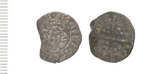 WAW-E40E25: Obverse and reverse of an Edward I penny.