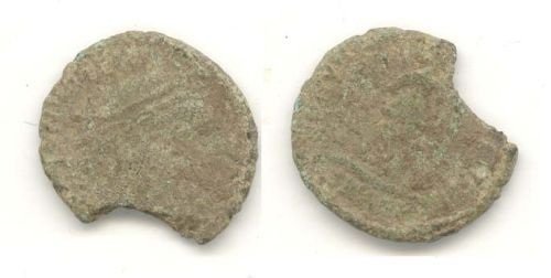 WAW-E580C3: WAW-E580C3 Obverse and reverse of a Valens coin.