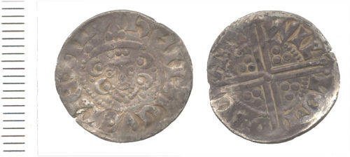 WAW-EA0925: Obverse and reverse of a Henry III penny.