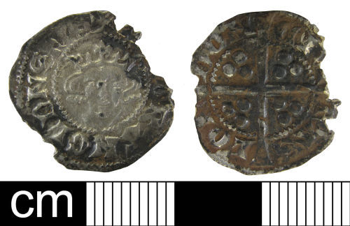 WAW-F8BA50: Medieval coin: penny of Edward I.