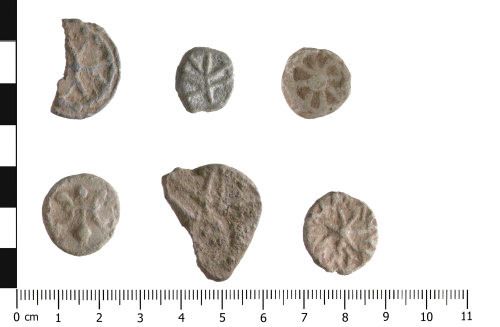 WAW-0015CE: Post Medieval lead tokens (plan).