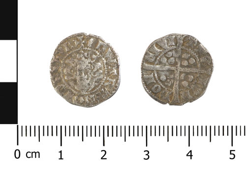 WAW-157AA5: Medieval coin: penny of Edward I (Obverse and reverse).