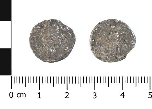 WAW-15D0DA: Roman coin: denarius of possibly Septimus Severus (Obverse and reverse).