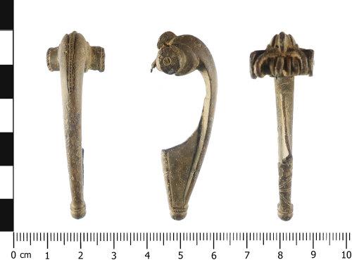 WAW-191E3B: Roman brooch: Polden Hill type (plan, profile and reverse).