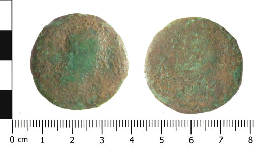 WAW-202CDD: Roman coin: sesterius of an unknown Emperor (Obverse and reverse).