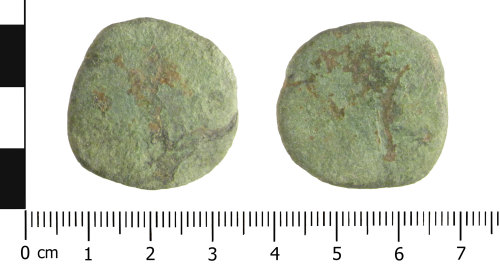 WAW-206CB4: Roman coin: sesterius of an unknown Emperor (Obverse and reverse).