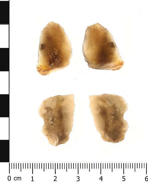 WAW-2D1024: Mesolithic to early Bronze Age retouched flakes (plan and reverse).
