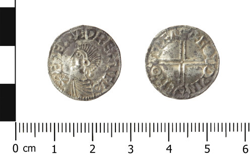 WAW-339A8D: Early Medieval coin: penny of Aethelred II (Obverse and reverse).