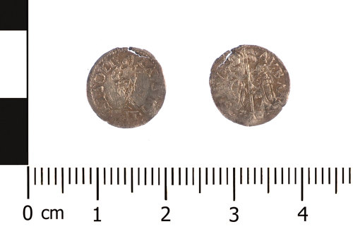 WAW-461AD9: Medieval coin: silver Venetian soldino of Agostin Barbarigo (Obverse and reverse).