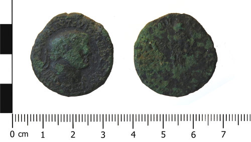 WAW-46286D: Roman coin: nummus of Constantius I (Obverse and reverse).