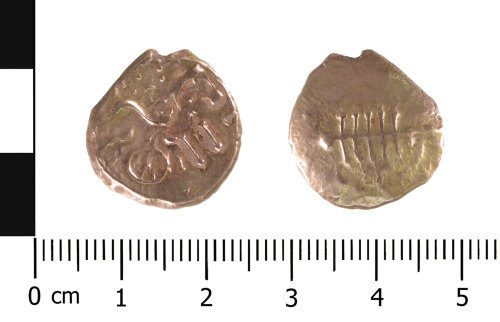 WAW-4E2509: Iron Age coin: stater (Obverse and reverse).