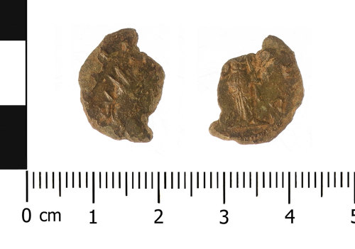WAW-6D2496: Roman coin: radiate of Gallienus (Obverse and reverse).