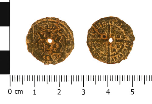 WAW-76AA96: Medieval  jetton: English (Obverse and reverse).