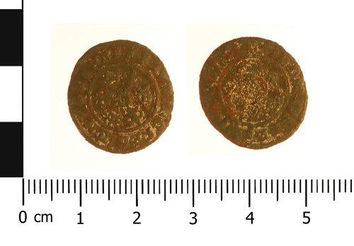 WAW-773076: Post Medieval jetton: Hanns Krauwinckel (Obverse and reverse).