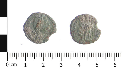 WAW-785981: Roman coin: nummus of Valens (Obverse and reverse).