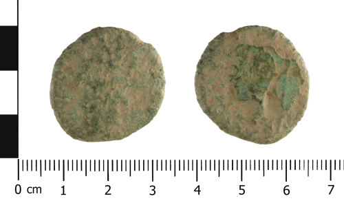 A resized image of Roman coin: (Obverse and reverse).