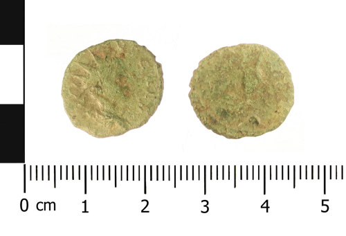 WAW-A04588: Roman coin: radiate of Tetricus II (Obverse and reverse).