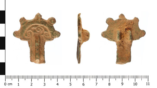 WAW-B11F93: Early Medieval brooch (plan, profile and reverse).