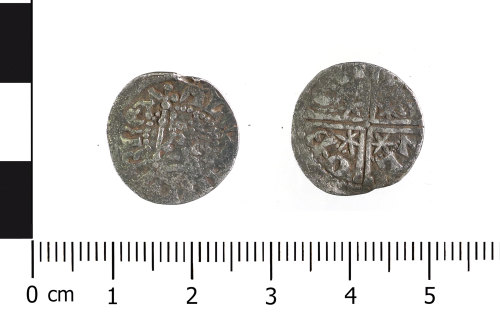 WAW-CD6558: Medieval coin: penny of Alexander III (Obverse and reverse).