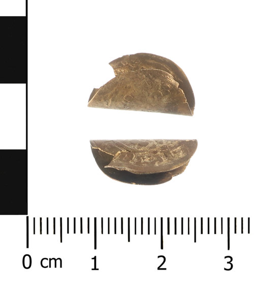 WAW-DA07B0: Medieval coin: penny of Edward I-III (Obverse and reverse).
